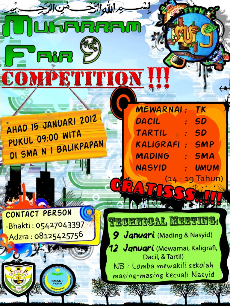 ... Fair 9 Competition di SMAN 1 Balikpapan. Lomba-lombanya antara lain